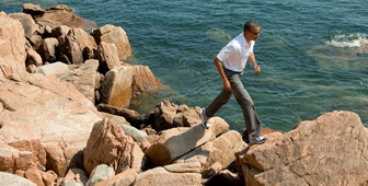 President Obama in Acadia National Park