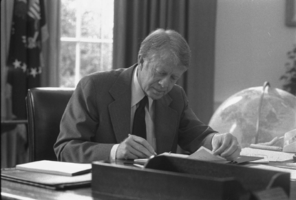 President Carter in the Oval Office