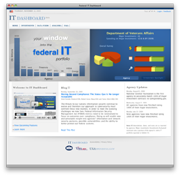 Chief Information Officer launches IT Dashboard, a new, one-stop clearinghouse of information that allows the public to track $76 billion in federal IT initiatives and hold the government accountable for results