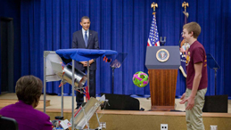 President announces National Lab Day, a national barn-raising for hands-on learning
