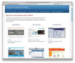 White House launches Open Government Innovations Gallery to showcase open government innovations across the Federal government