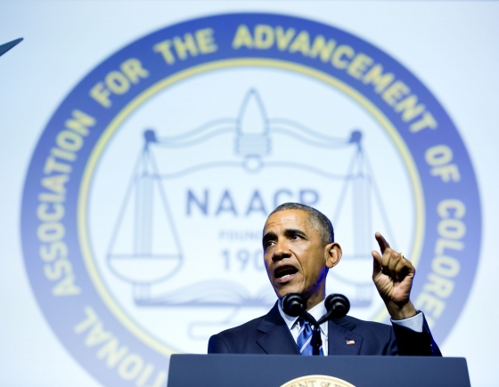 President Obama delivers remarks at the NAACP Convention