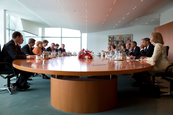 President Barack Obama holds a bilateral meeting with German Chancellor Angela Merkel in Berlin