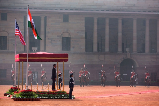 President Obama Participates in Official India Welcome