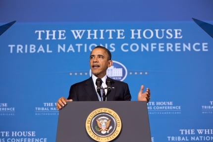President Barack Obama delivers remarks during the White House Tribal Nations Conference (December 5, 2012)