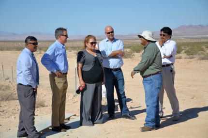 David Agnew Meets with Leaders of the Moapa Band of Paiute Indians and the Moapa Solar Project