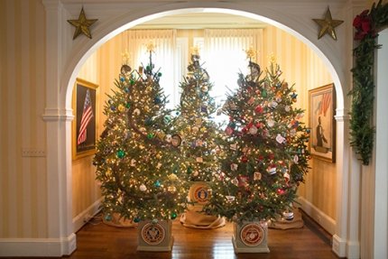 Holiday decorations at the Naval Observatory Residence