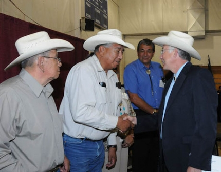 Secretary Salazar meets with members of the Crow Nation
