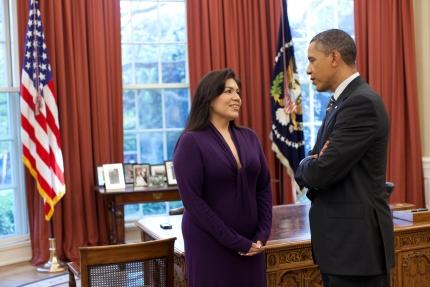 President Obama and Kimberly Teehee
