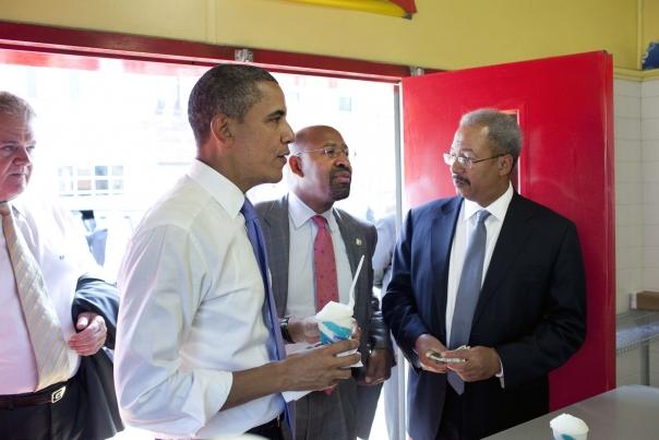 President Orders Water Ice in Philadelphia
