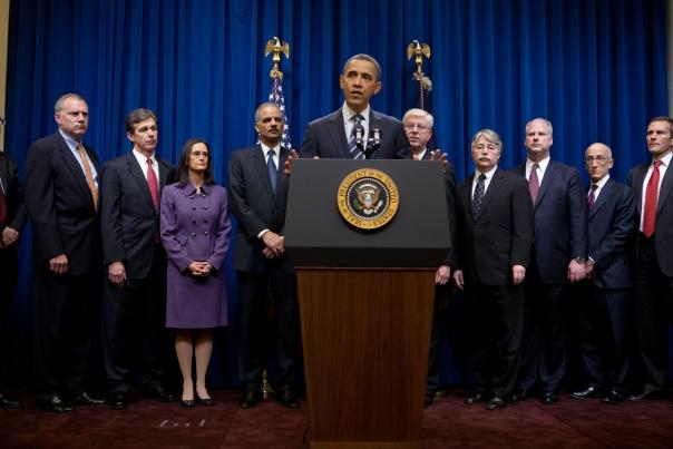 President Barack Obama delivers remark on a landmark housing agreement (February 9, 2012)