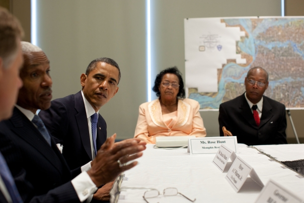 President Obama Meets with Officials and Families Affected by the Floods in Memphis