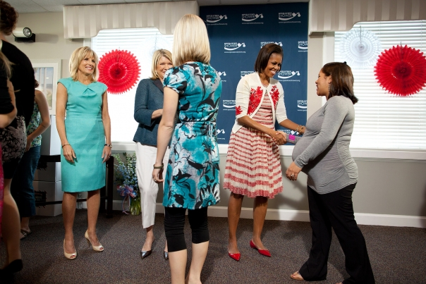 First Lady Michelle Obama, Dr. Jill Biden, and Martha Stewart