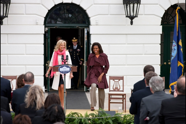 First Lady Michelle Obama and Dr. Jill Biden Kick Off a Joining Forces Community Challenge Event