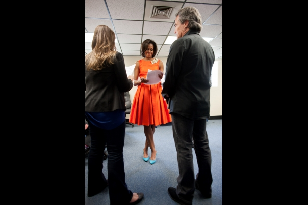 First Lady Michelle Obama Is Briefed In Jacksonville
