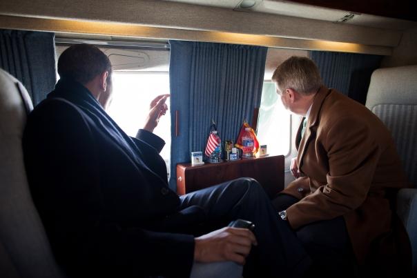 President Barack Obama and Mayor Brian Stratton