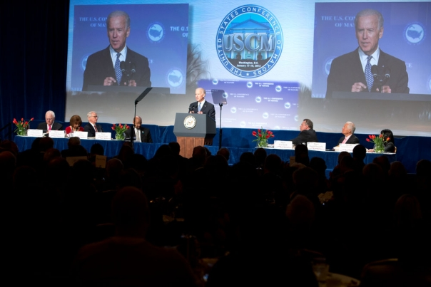 Vice President Biden Addresses Conference of Mayors