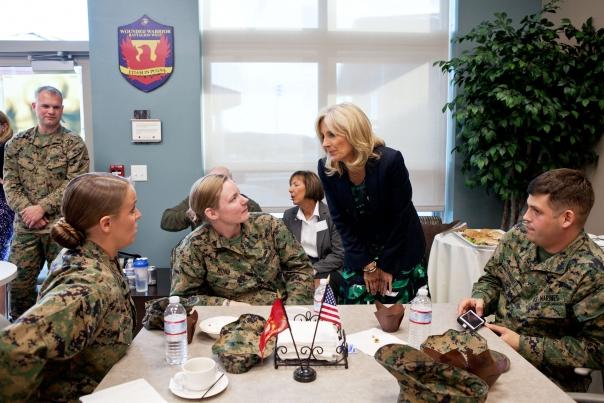 Dr. Jill Biden Greets Wounded Warriors