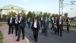 President Obama Walks To A Meeting At Konstantinovsky Palace