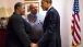 President Obama Talks with the Pendletons