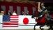 President Obama Watches Archers On Horseback At The Meiji Shrine