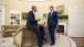 President Barack Obama talks with Treasury Secretary Jack Lew