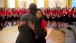 American Legion Girls Nation delegate Johnsenia Brooks hugs President Obama