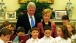 Bill Clinton and Hillary Rodham Clinton at a Hanukkah celebration in the Oval Office, December 21, 2000.