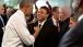 President Obama greets Ramone Davis