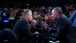 President Obama talks with Jon Stewart between segments