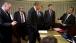 The President Talks With Advisors