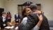 President Obama hugs Kemba Smith