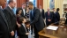 President Obama Gives a Signing Pen to Jacob Miller