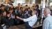 President Obama Slides Across a Counter at Shake Shack
