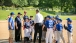 President Obama Visits With Little League Players