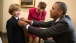 President Obama Adjusts Young Man's Tie