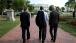 President Obama, Vice President Biden, and Bob McDonald Walk Through Lafayette Square