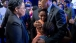 President Barack Obama hugs the Pinckney sisters