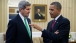 President Obama talks with Secretary of State Kerry