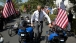 President Obama greets Wounded Warrior Project's Soldier Ride participants