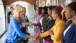 Dr. Jill Biden greets young women professionals
