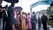 Dr. Jill Biden, granddaughter Finnegan Biden, and President Ernest Bai Komora are briefed on their visit