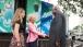 Dr. Jill Biden, granddaughter Finnegan Biden, and President Ernest Bai Komora stand beneath