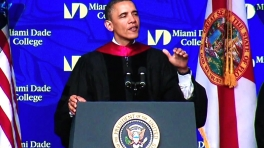 President Obama Delivers Commencement Address at Miami Dade College