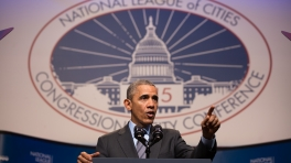 President Obama Speaks at the National League of Cities Conference