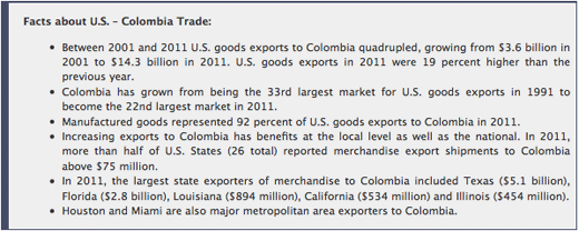 U.S.-Colombia Trade Promotion Agreement Now in Force | whitehouse.gov