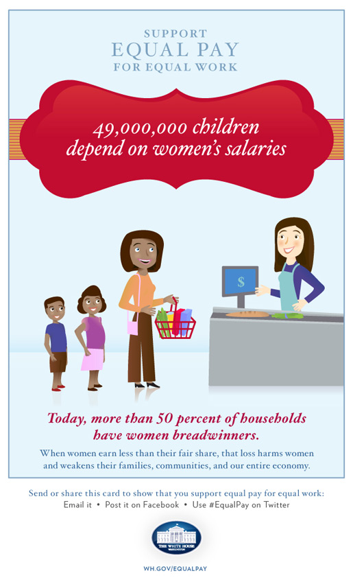 49,000,000 million children depend on women's salaries