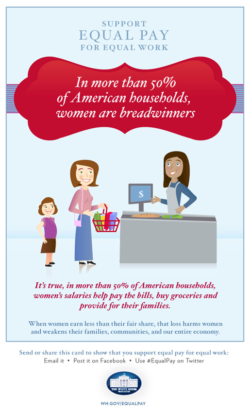 In more than 50% of American households, women are breadwinners