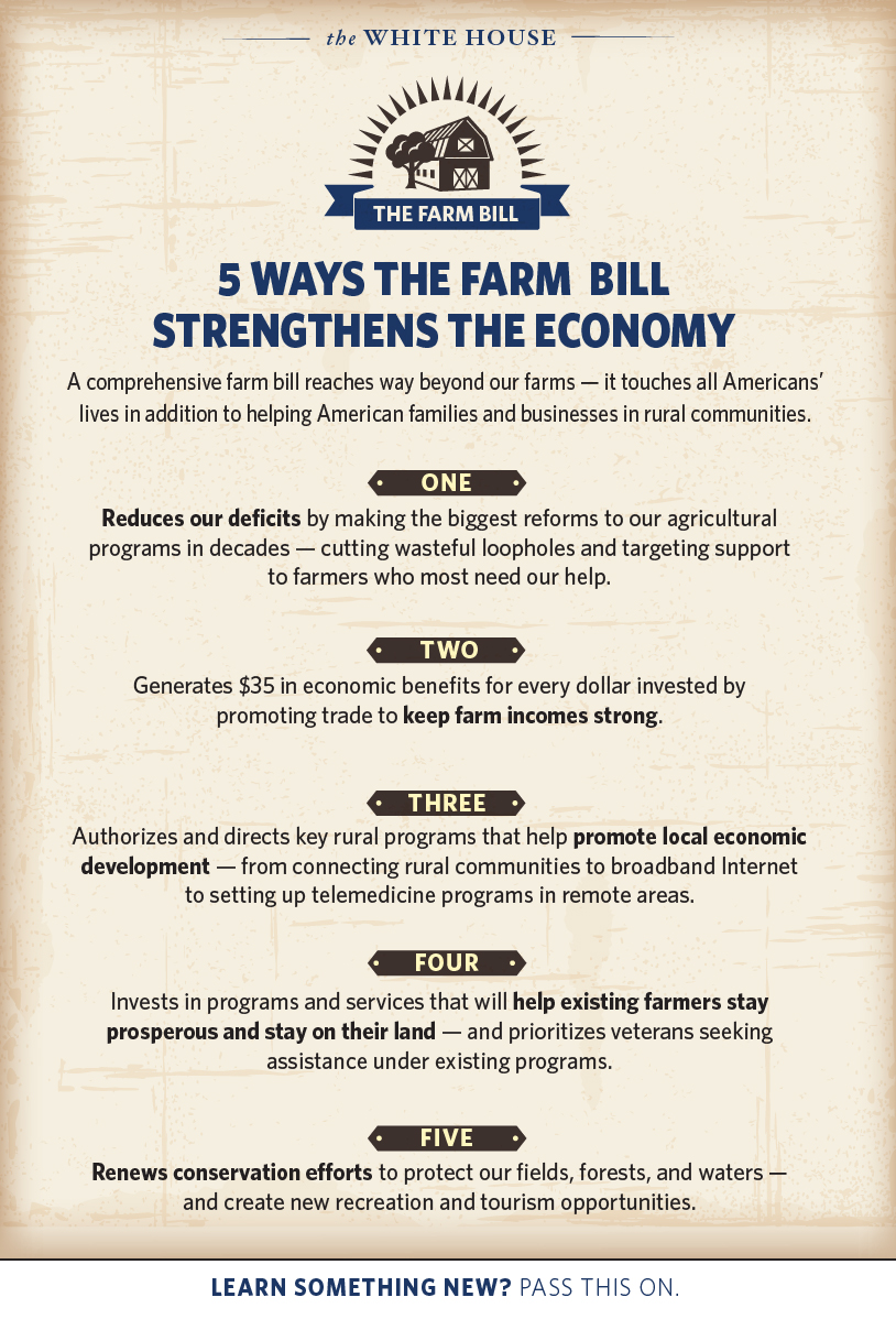Here's how a comprehensive Farm Bill goes way beyond our farms: