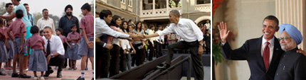 Slideshow of President's Trip to India